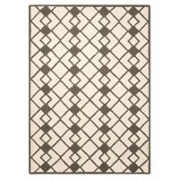 Nourison Deco 5' x 7' Area Rug in Ivory/Grey