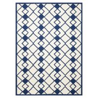Nourison Deco 5' x 7' Area Rug in Ivory/Navy