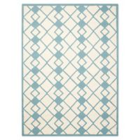 Nourison Deco 5' x 7' Area Rug in Ivory/Blue