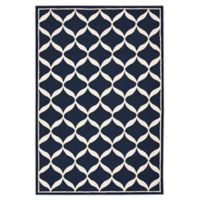 Nourison Deco 8' x 10' Area Rug in Navy/White