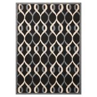 Nourison Deco 8' x 10' Area Rug in Black
