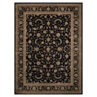 "Nourison™ Heritage Hall Black/grey 8'6"" X 11'6"" Tufted Area Rug in Black"