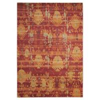 "Nourison™ Dune Flame 9'9"" X 13'9"" Hand-Knotted Area Rug in Flame"