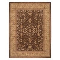 "Nourison™ Heritage Hall Brown 8'6"" X 11'6"" Tufted Area Rug in Brown"
