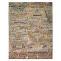 """Nourison™ Dune Mist 9'9"""" X 13'9"""" Hand-Knotted Area Rug in Mist"""