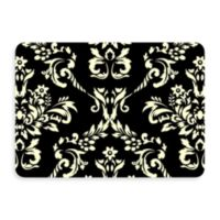 Bungalow Flooring New Wave 22-Inch x 31-Inch Damask Door Mat in Onyx