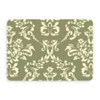 Bungalow Flooring New Wave 22-Inch x 31-Inch Damask Door Mat in Sage