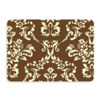 Bungalow Flooring New Wave 22-Inch x 31-Inch Damask Door Mat in Walnut