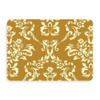 Bungalow Flooring New Wave 22-Inch x 31-Inch Damask Door Mat in Harvest Gold