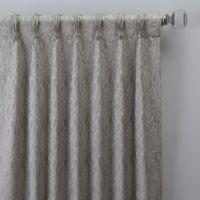 Sebille Jacquard 84-Inch Pinch Pleat Window Curtain Panel in Silver Blue
