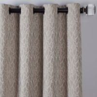 Sebille Jacquard 108-Inch Grommet Window Curtain Panel in Latte