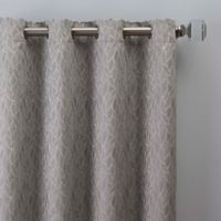 Sebille Jacquard 108-Inch Grommet Window Curtain Panel in Silver Blue
