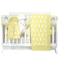 Pam Grace Creations Honeydew Kangaroo 6-Piece Crib Bedding Set in Gold