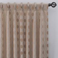 Verde 108-Inch Pinch Pleat Window Curtain Panel in Linen