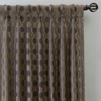 Verde 108-Inch Pinch Pleat Window Curtain Panel in Mocha