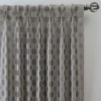 Verde 108-Inch Pinch Pleat Window Curtain Panel in Silver/Blue
