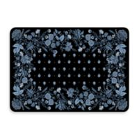 Bungalow Flooring New Wave 22-Inch x 31-Inch Palazzo Black Chambray Door Mat
