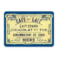Bungalow Flooring New Wave 22-Inch x 31-Inch French Chocolate Blue Door Mat