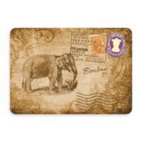 Bungalow Flooring New Wave 22-Inch x 31-Inch Beige Postcard India Door Mat