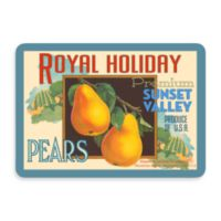 Bungalow Flooring New Wave 22-Inch x 31-Inch Holiday Pear Ad Door Mat