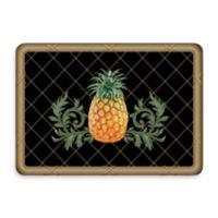 Bungalow Flooring New Wave 22-Inch x 31-Inch Pineapple Lattice Black Door Mat
