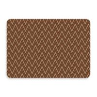 Bungalow Flooring New Wave 22-Inch x 31-Inch Chevron Chocolate Door Mat