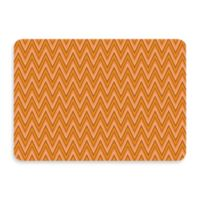 Bungalow Flooring New Wave 22-Inch x 31-Inch Chevron Tangerine Door Mat