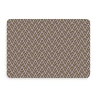 Bungalow Flooring New Wave 22-Inch x 31-Inch Chevron Grey Door Mat