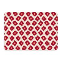 Bungalow Flooring New Wave 22-Inch x 31-Inch Ikat Red Door Mat