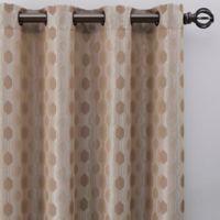 Verde 63-Inch Grommet Window Curtain Panel in Linen