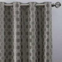 Verde 108-Inch Grommet Window Curtain Panel in Silver/Blue