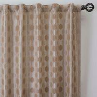 Verde 63-Inch Rod Pocket/Back Tab Window Curtain Panel in Linen