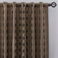 Verde 108-Inch Rod Pocket/Back Tab Window Curtain Panel in Mocha