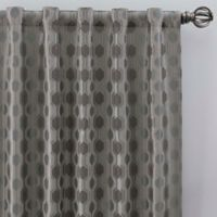Verde 63-Inch Rod Pocket/Back Tab Window Curtain Panel in Silver/Blue