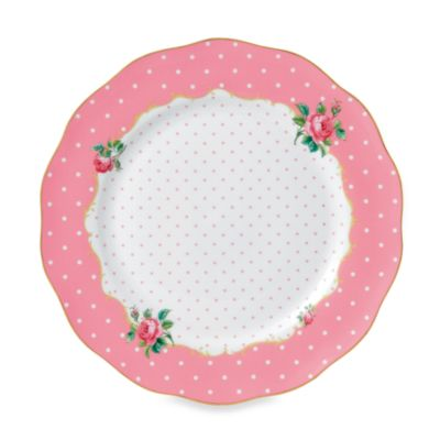 Royal Albert Vintage Dinner Plate in Cheeky Pink  sc 1 st  Bed Bath u0026 Beyond & Buy Pink China Plates from Bed Bath u0026 Beyond