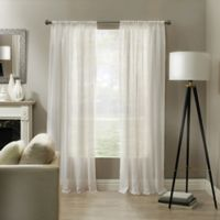 Linden 95-Inch Rod Pocket Sheer Window Panel in White
