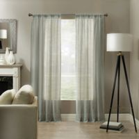 Linden 84-Inch Rod Pocket Sheer Window Panel in Sea Mist