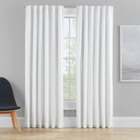 Clarey 84-Inch Rod Pocket 100% Blackout Window Curtain Panel in White