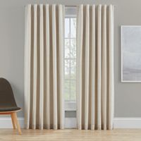Clarey 63-Inch Rod Pocket 100% Blackout Window Curtain Panel in Linen