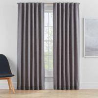 Clarey 95-Inch Rod Pocket 100% Blackout Window Curtain Panel in Grey
