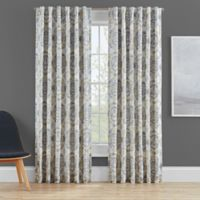 Clarey Floral 63-Inch Rod Pocket 100% Blackout Window Curtain Panel in Grey