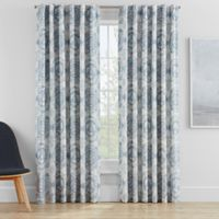 Clarey Floral 63-Inch Rod Pocket 100% Blackout Window Curtain Panel in Spa