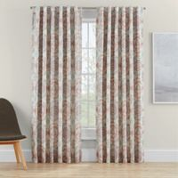 Clarey Floral 63-Inch Rod Pocket 100% Blackout Window Curtain Panel in Coral