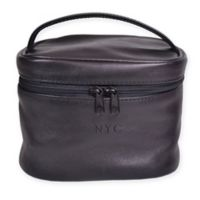 ROYCE New York Leather Travel Cosmetic Bag in Black