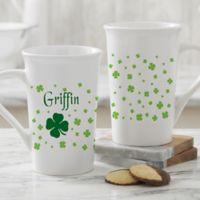 Irish Clover Personalized Latte Mug
