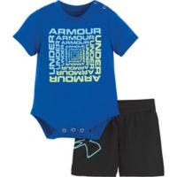 Under Armour® Size 6-9M 2-Piece Twist Bodysuit and Short Set in Blue