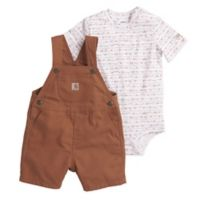 Carhartt® Size 3M Mountains Bodyshirt and Shortall Set in Brown