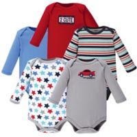 Luvable Friends® Size 9-12M 5-Piece Car Long Sleeve Bodysuits