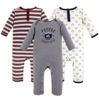 Hudson Baby® Size 18-24M 3-Piece Football Coveralls in Red