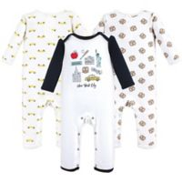 Hudson Baby® Size 0-3M 3-Piece NYC Coveralls